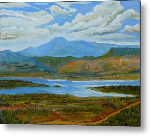 Chimney Rock Metal Print featuring the painting View From Chimney Rock by Mark Malone