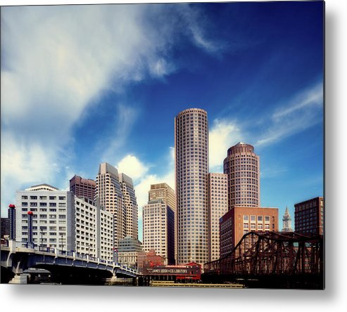 Boston Metal Print featuring the photograph Boston Skyline 1980s by Mountain Dreams