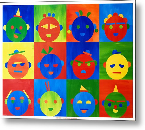 Kids Metal Print featuring the mixed media For Kids N.2 by Heike Schenk-Arena