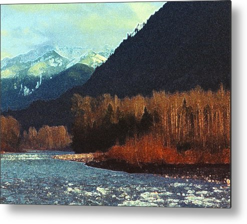 Landscape Metal Print featuring the photograph On The Squamish River 2223 by Lyle Crump