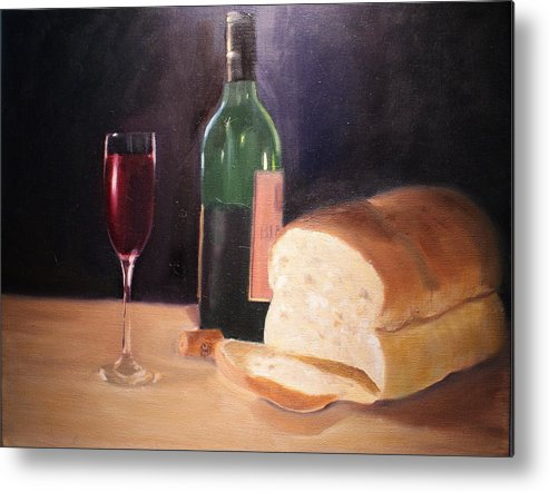 Wine Metal Print featuring the painting Untitled by Toni Berry