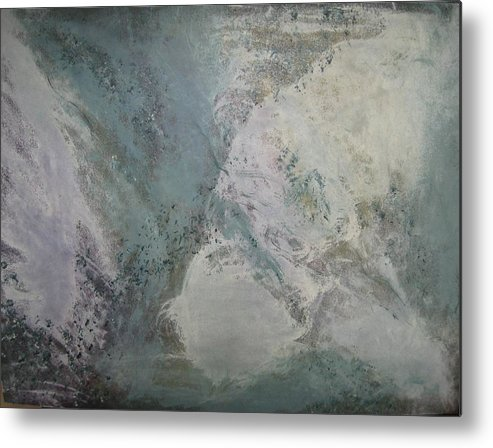Abstract Metal Print featuring the painting Whirlwind by Sheryl Sutherland