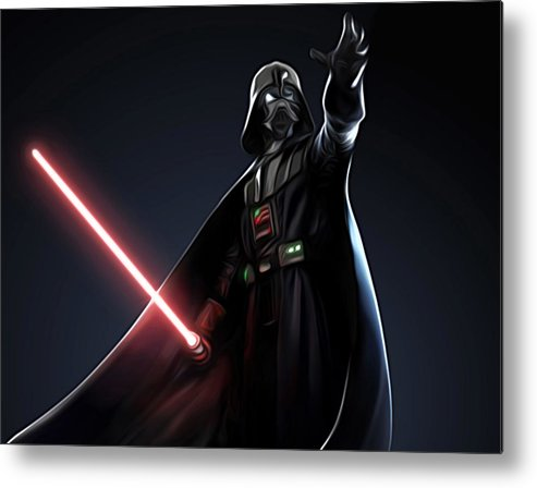 Star Wars Metal Print featuring the digital art Star Wars The Poster by Larry Jones