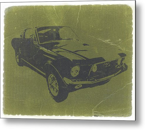 1968 Ford Mustang Metal Print featuring the photograph 1968 Ford Mustang by Naxart Studio