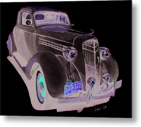 Desoto Metal Print featuring the painting 35 Desoto by Ferrel Cordle