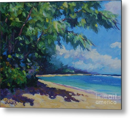 7-mile Beach Metal Print featuring the painting 7-mile Beach by John Clark