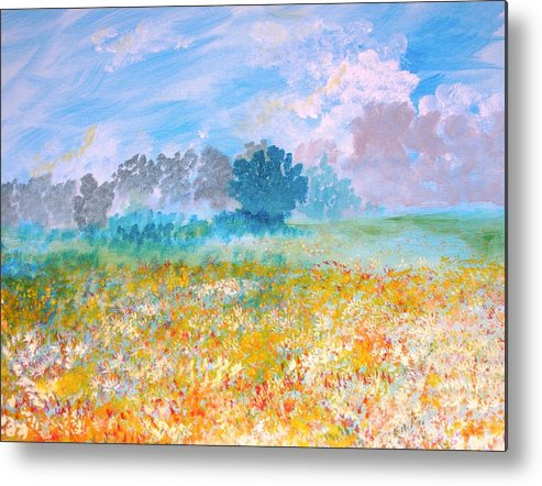New Artist Metal Print featuring the painting A Golden Afternoon by J Bauer