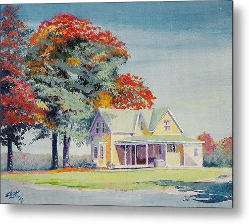 Landscape Metal Print featuring the painting A Touch Of Fall by Barry Smith