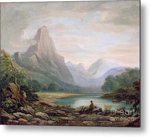 Welsh Metal Print featuring the painting A Welsh Valley by John Varley