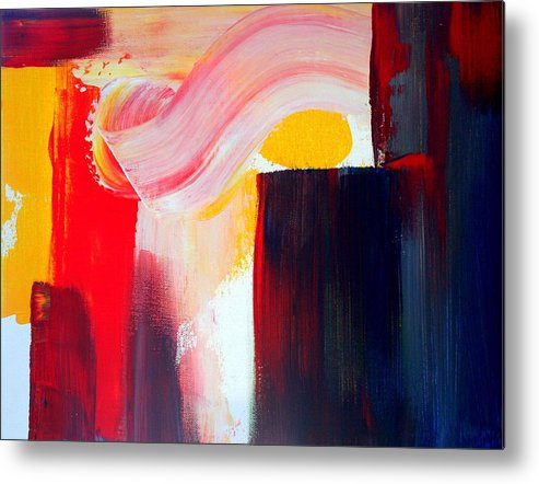 Abstract Metal Print featuring the painting Air Current by Julie Lueders