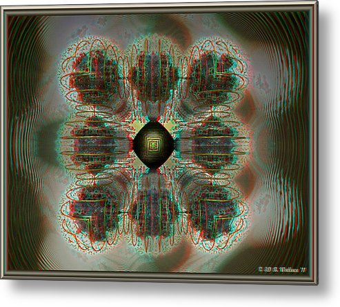 3d Metal Print featuring the photograph Alpha Waves - View With Red-cyan 3d Glasses by Brian Wallace