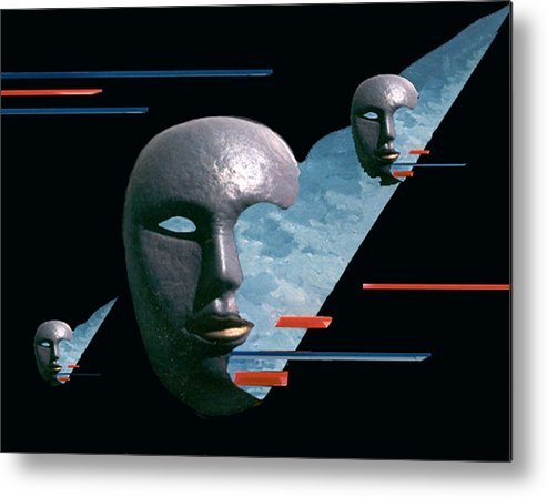 Surreal Metal Print featuring the digital art An Androids Dream by Steve Karol