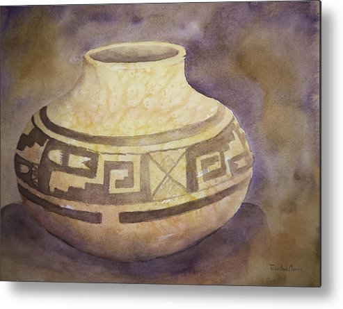 Pottery Metal Print featuring the painting Ancient Pottery by Terry Ann Morris