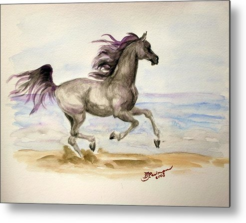 Arabian Metal Print featuring the painting Arabian In Wind by BJ Redmond
