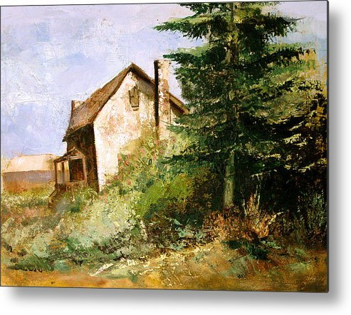 Metal Print featuring the painting Back To The Farm by Dale Witherow