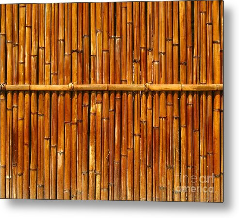 Fence Metal Print featuring the photograph Bamboo Fence by Yali Shi