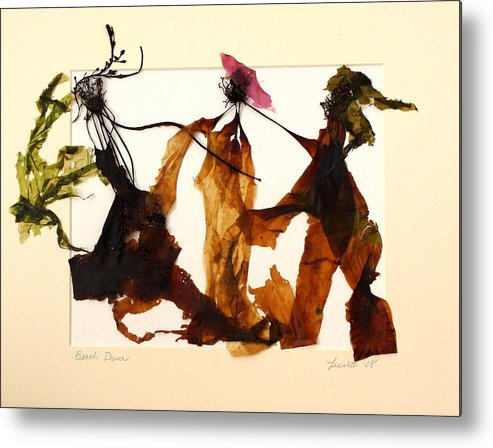 Feet Metal Print featuring the mixed media Beach Dance by Lisabeth Billingsley