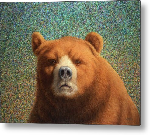 Bear Metal Print featuring the painting Bearish by James W Johnson