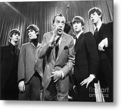 1964 Metal Print featuring the photograph Beatles And Ed Sullivan by Granger