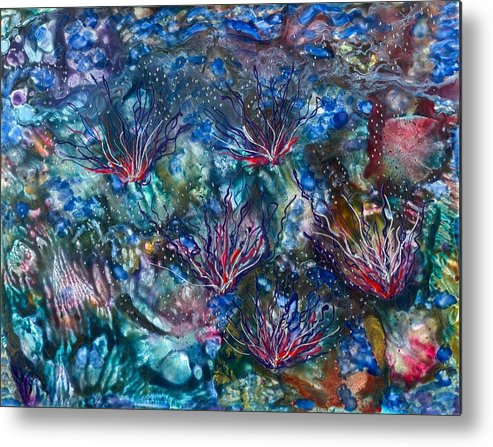 Sea Metal Print featuring the painting Beyond My Breath by Heather Hennick