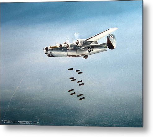Aviation Metal Print featuring the painting Bombs Away by Marc Stewart
