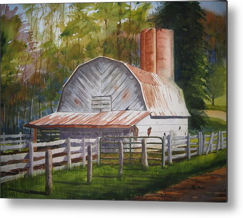 Boone Metal Print featuring the painting Boone Barn by Shirley Braithwaite Hunt