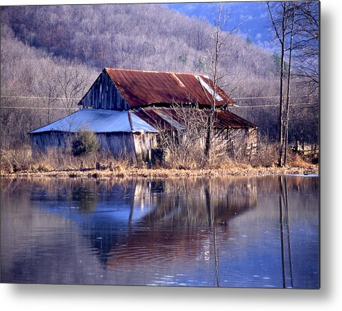 Metal Print featuring the photograph Boxely Barn Reflection by Curtis J Neeley Jr