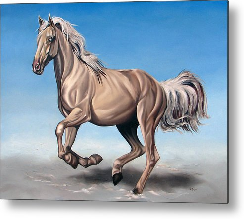 Horse Metal Print featuring the painting Breeze by Ilse Kleyn