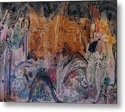 Castle Metal Print featuring the painting Castle by Sima Amid Wewetzer