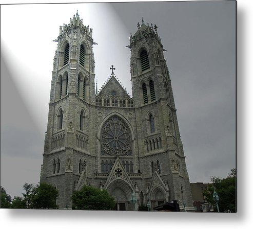 Church Metal Print featuring the photograph Cathedral Basilica In Newark Nj by Frank Nicolato