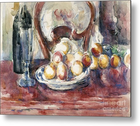 19th Century Metal Print featuring the photograph Cezanne: Still Life by Granger
