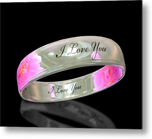 Ring Metal Print featuring the digital art Circle Of Love by Cecil Fuselier