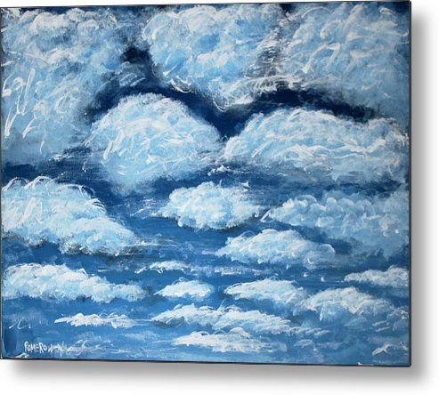 Acrylic Metal Print featuring the painting Clouds by Antonio Romero