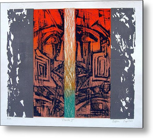 Bstract Canvas Prints Metal Print featuring the painting Color25 Monoprint by Christiana Iliopoulou