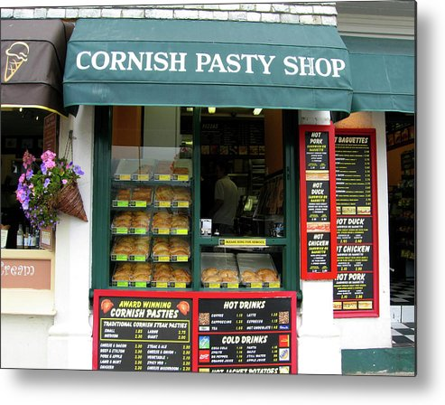 Cornish Metal Print featuring the photograph Cornish Pasty Shop by Kurt Van Wagner