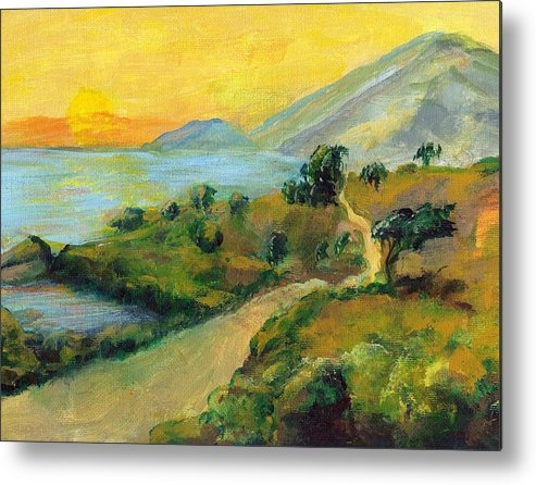 Sea Metal Print featuring the painting Costa Rica Sunset by Randy Sprout