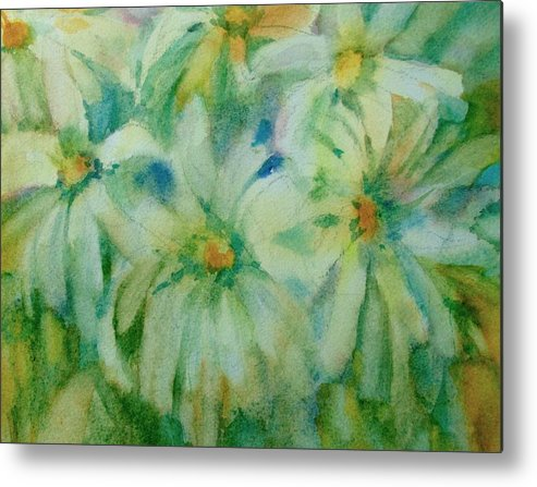 Daisies Metal Print featuring the painting Daisies by Linda Emerson