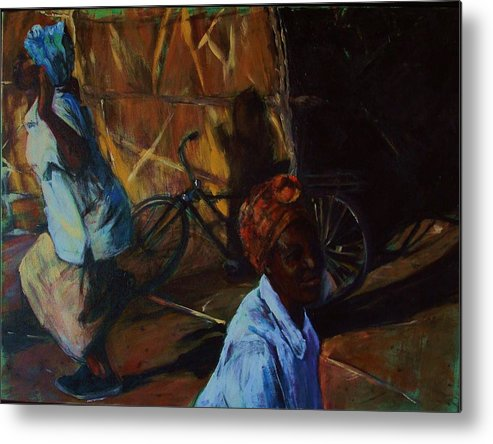 African Metal Print featuring the painting Dance Break by Michelle Winnie