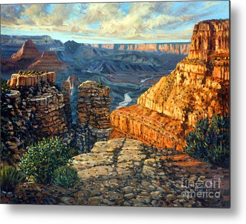 Grand Canyon Metal Print featuring the painting Dancing Rock by Donald Maier