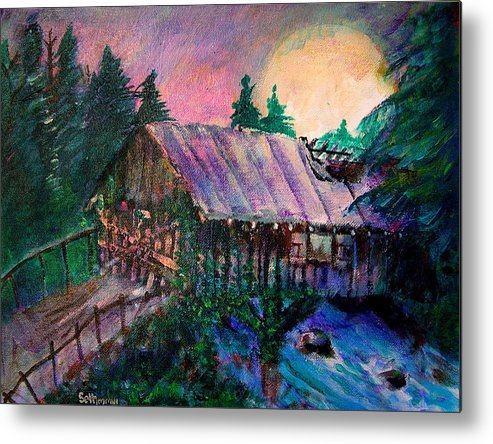 Dangerous Bridge Metal Print featuring the painting Dangerous Bridge by Seth Weaver