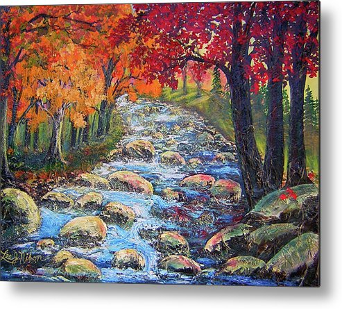Lee Metal Print featuring the painting Dazzling View From The Rapidan by Lee Nixon