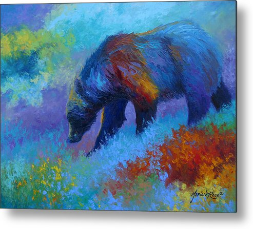 Western Metal Print featuring the painting Denali Grizzly Bear by Marion Rose