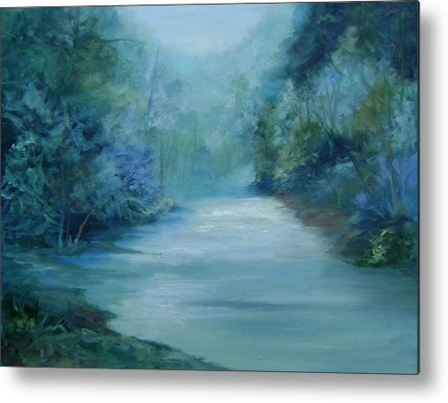 Burton River Georgia Metal Print featuring the painting Dreamsome by Ginger Concepcion