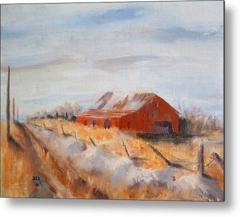 Landscape Metal Print featuring the painting Entering Choteau County by Bryan Alexander