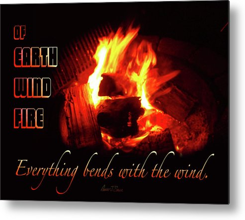 Metal Print featuring the photograph Everything Bends With The Wind by Robert J Sadler
