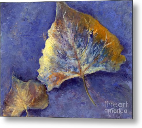 Leaves Metal Print featuring the painting Fanciful Leaves by Chris Neil Smith