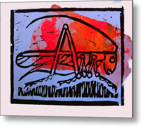 Cricket Metal Print featuring the mixed media Fire Cricket by Adam Kissel