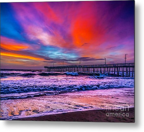 Dawn Metal Print featuring the photograph First Light On The Beach by Nick Zelinsky