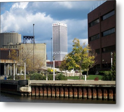 First Star Bank Metal Print featuring the photograph First Star View From River by Anita Burgermeister