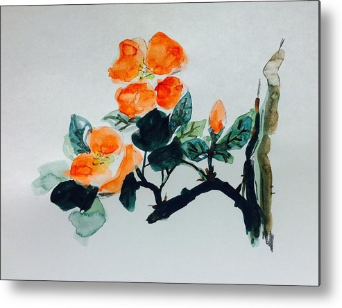 Flower Metal Print featuring the painting Flower Study 111116w by Hae Kim